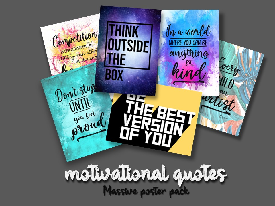 Massive Poster Pack- Motivational Quotes