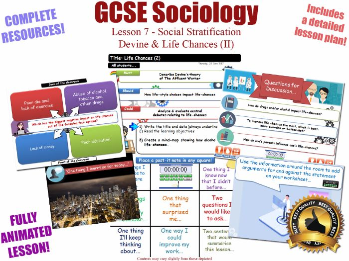 Life Chances (II) - Social Stratification -L7/20 [ WJEC EDUQAS GCSE Sociology ] Devine
