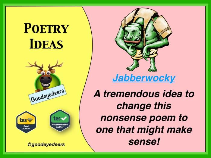 'Jabberwocky' - Making Sense Of Nonsense - KS2/KS3 Poetry