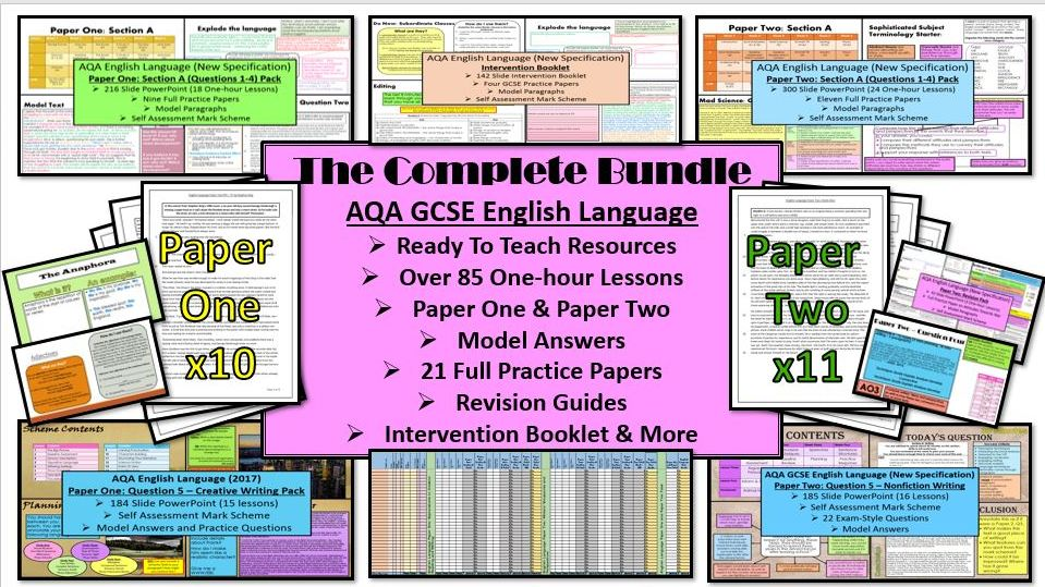 English Language GCSE: The Complete Bundle