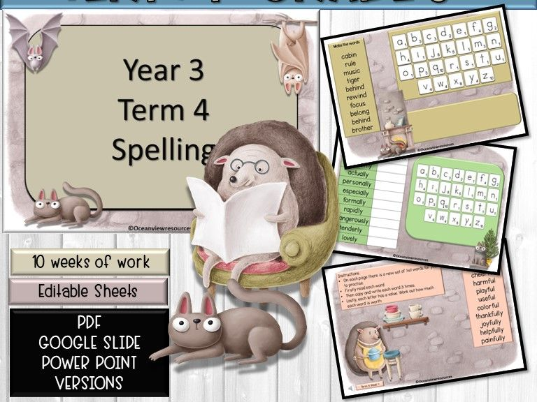 SPELLING GRADE 3 TERM 4- Suitable for distance learning