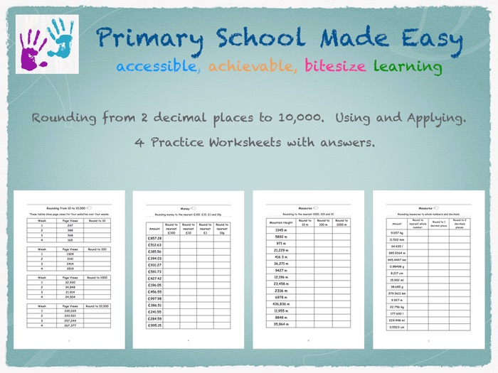 Rounding from 2 decimal place to 10,000.  Using and applying.