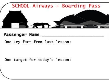 Plenary progress activity sheet