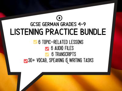 GCSE German LISTENING Practice Bundle