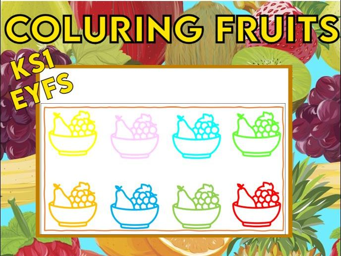 Colouring Fruits EYFS KS1