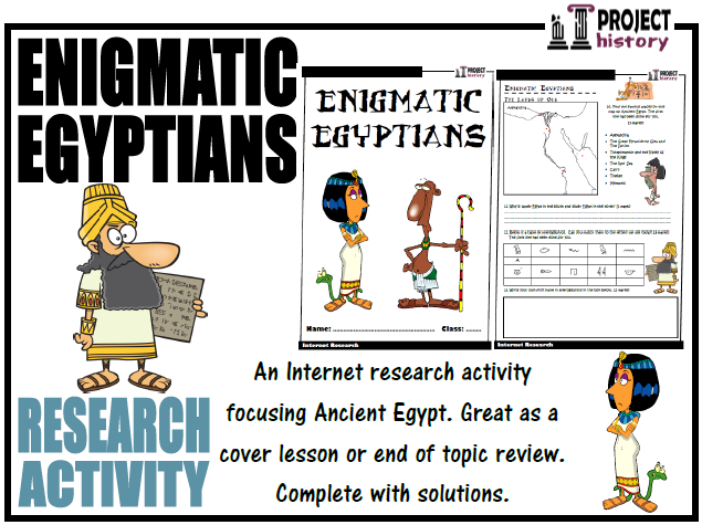 Ancient Egyptians Internet Research Activity