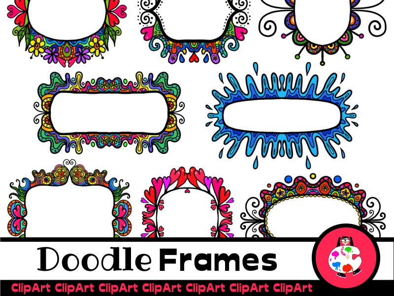 ClipArt Funky Doodle Frames