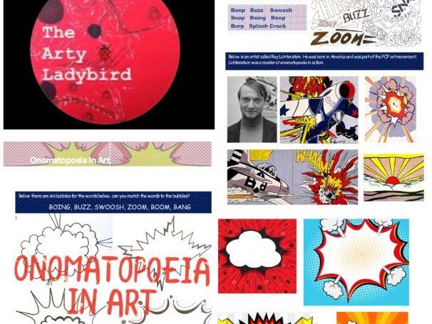 Onomatopoeia in Art Pop Art Words Roy Lichtenstein