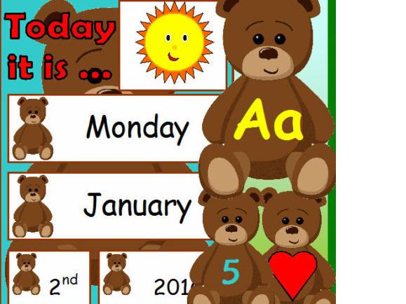 TEDDY BEAR WEATHER CALENDAR CLASSROOM DISPLAY EYFS Teacher Resource