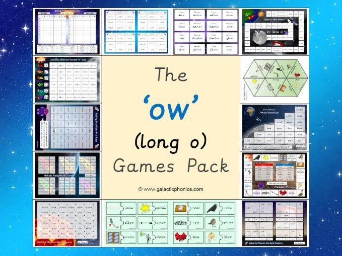 The 'ow' (long o) Phonics Games Pack (Phase 5)