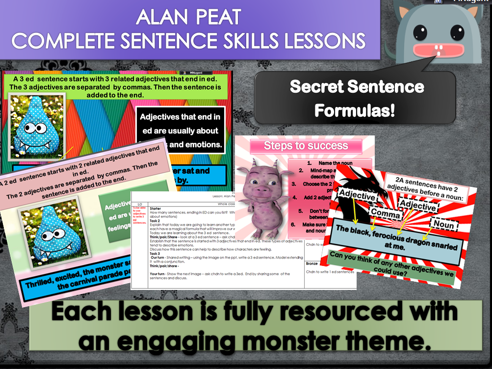 ALAN PEAT SENTENCES BUNDLE  KS2     BUNDLE 1