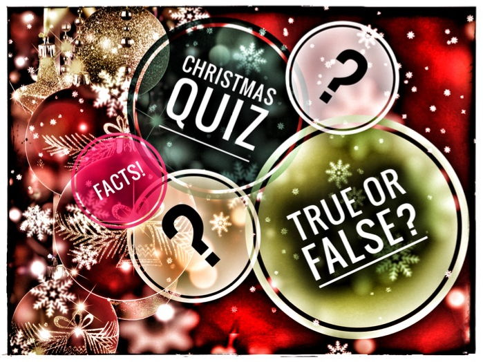 Christmas Fun Facts Quiz Game. True or False?