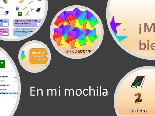 En mi mochila (In my school bag, Spanish)