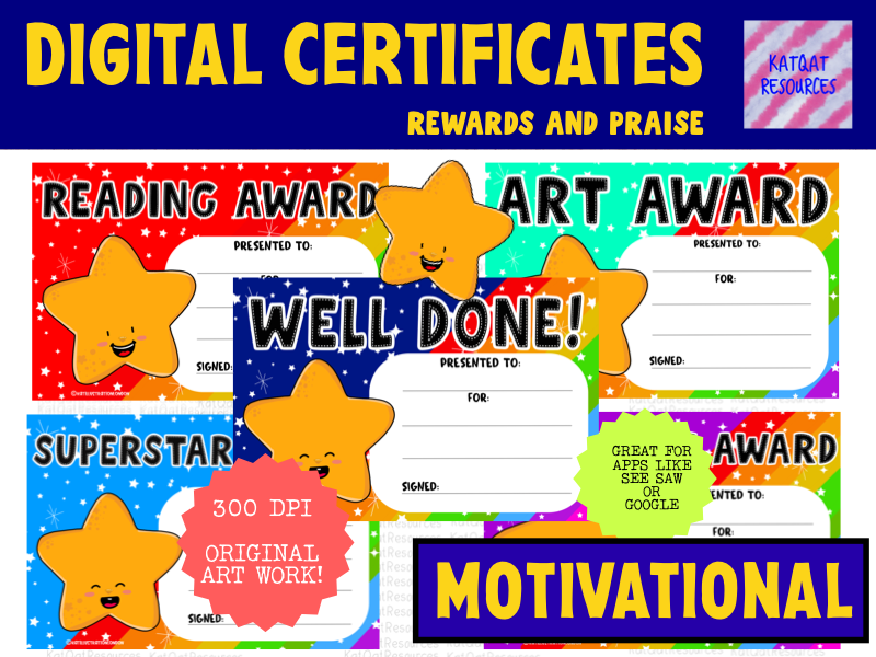 Digital  Certificates - Subject Rewards - Distance Learning