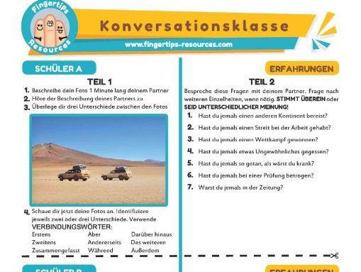 Erfahrungen - German Speaking Activity