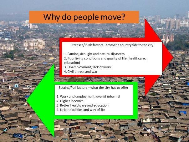 Shanty Towns: Push & Pull Factors