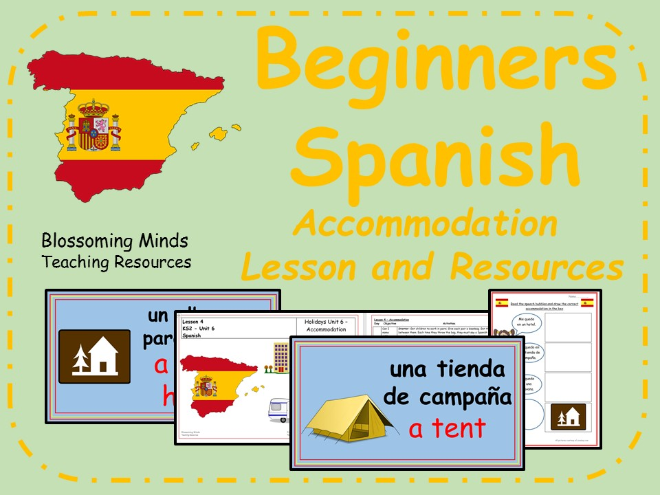 Spanish Lesson and Resources - KS2 - Holiday  (vacation) Accommodation