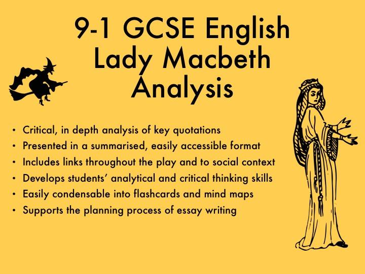 9-1 GCSE English Lady Macbeth Analysis