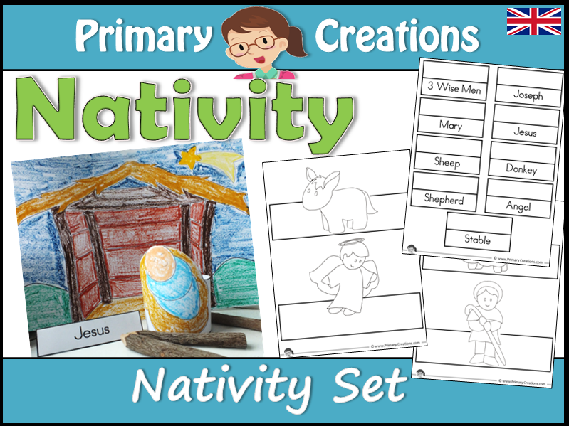 Christmas Nativity Scene Craft Set (UK Edition)