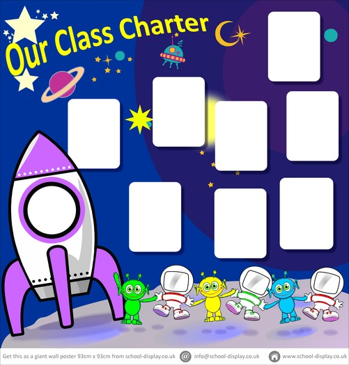 Space Theme classroom charter poster