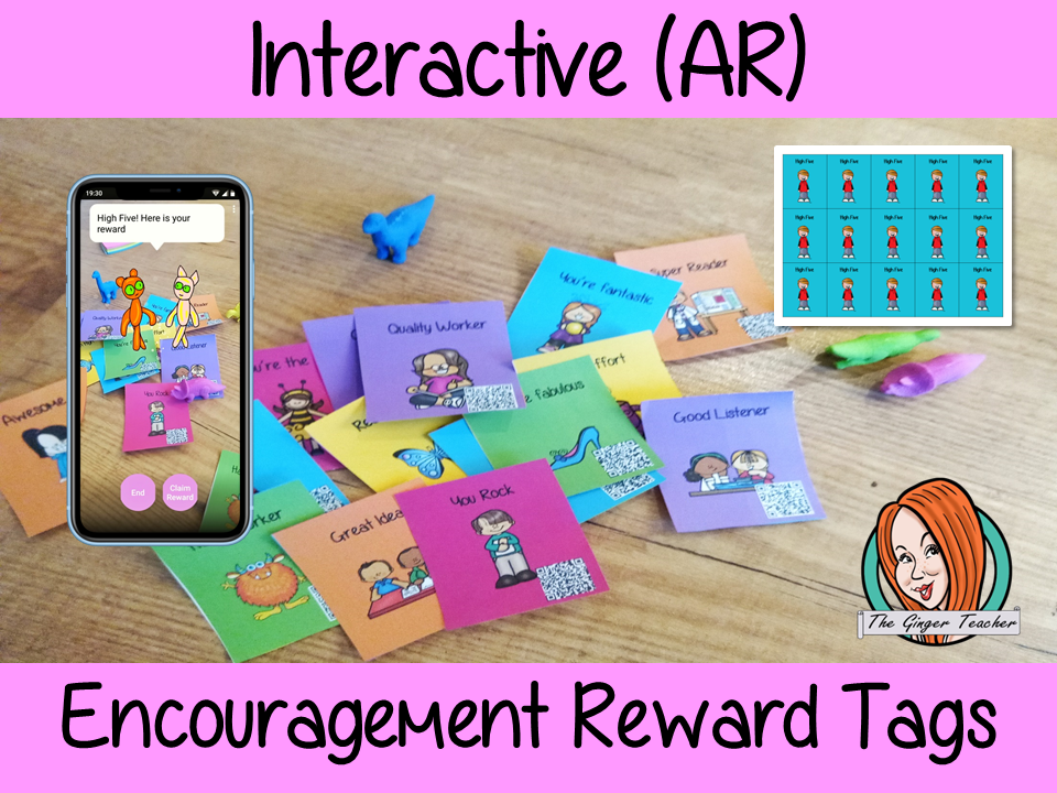 Interactive Encouragement and Motivational Reward Tags