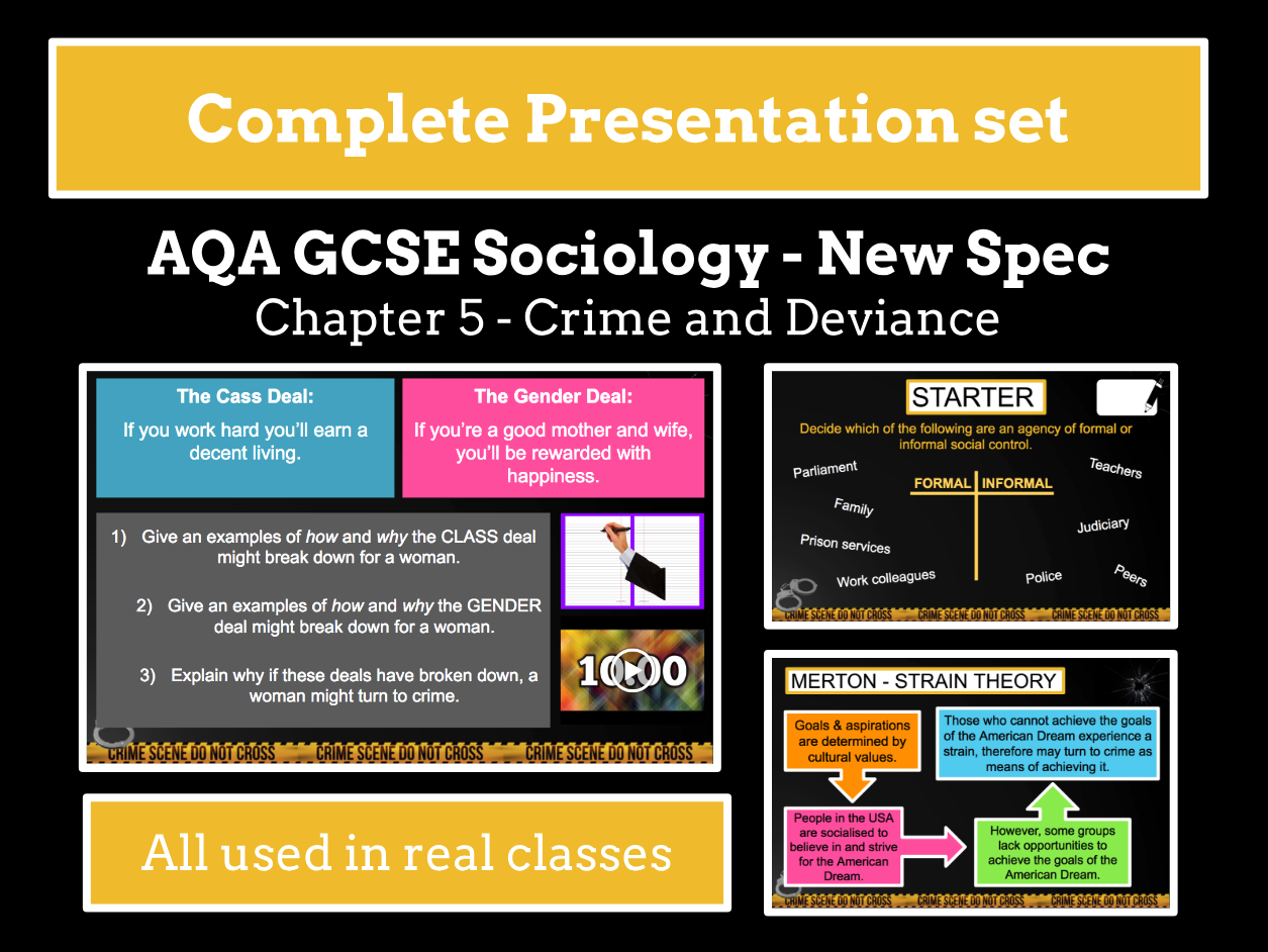 AQA GCSE SOCIOLOGY NEW SPECIFICATION - Unit 5 - Crime and Deviance