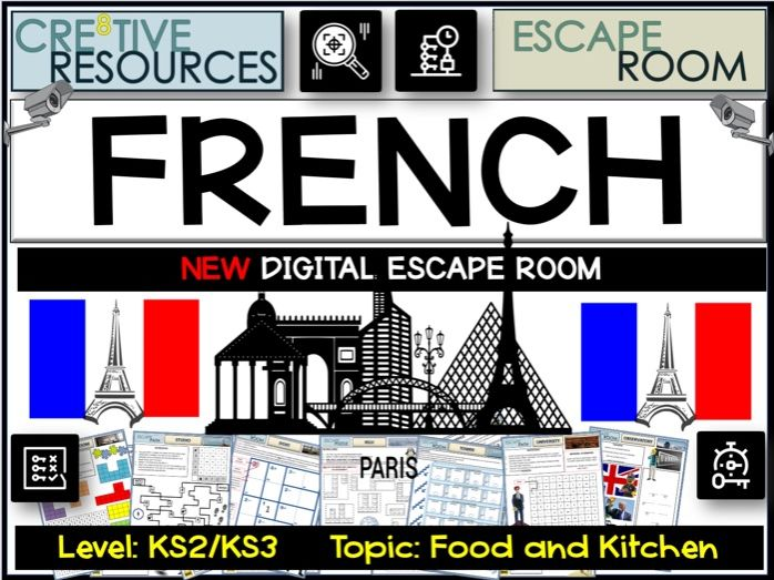 French KS2 Escape Room - Kitchen and Food