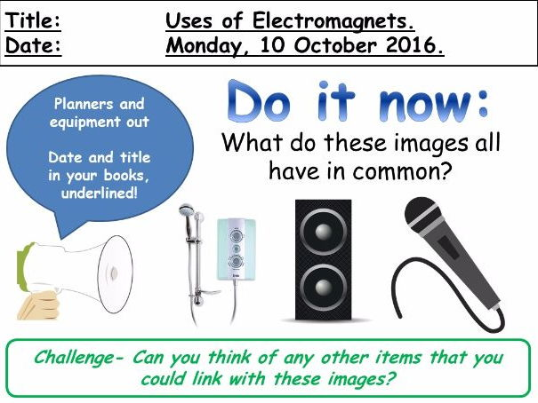 Uses of Electromagnets (KS3)