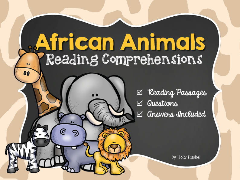 Reading Comprehension African Animals