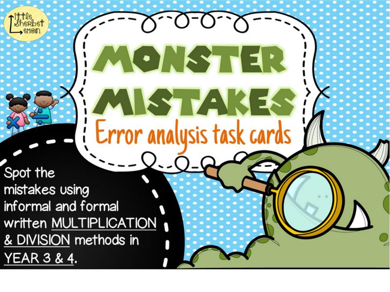 Error Analysis / Spot the Mistake Task Cards for Written Multiplication & Division Methods Yr 3 & 4
