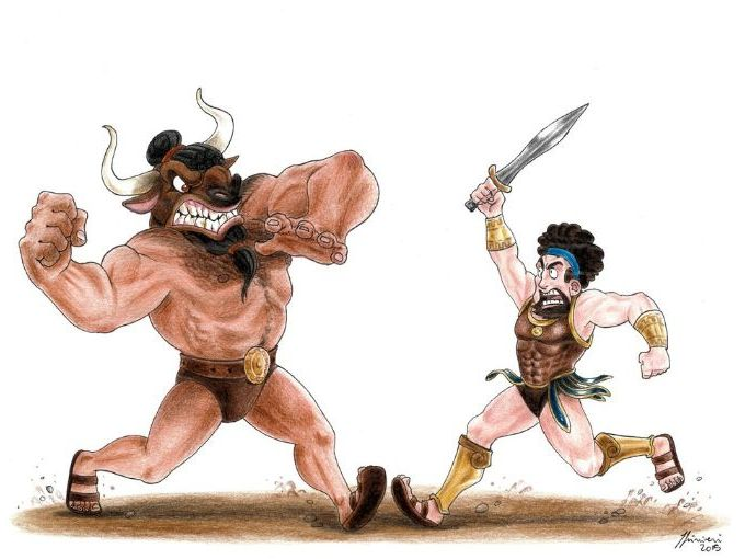 Theseus and the Minotaur- a comprehension lesson