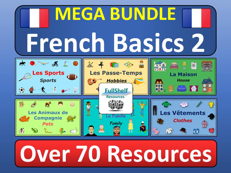 Beginners French KS2 KS3 BUNDLE 2