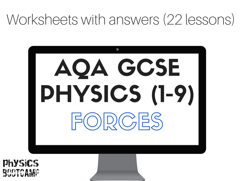 AQA GCSE Physics (1-9) Forces - 22 worksheets