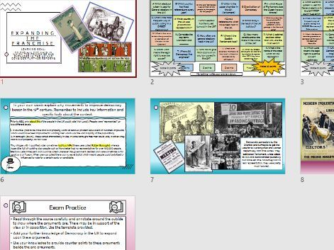 Edexcel Gov and Pol: Lesson 6 The Growth of Suffrage in the UK