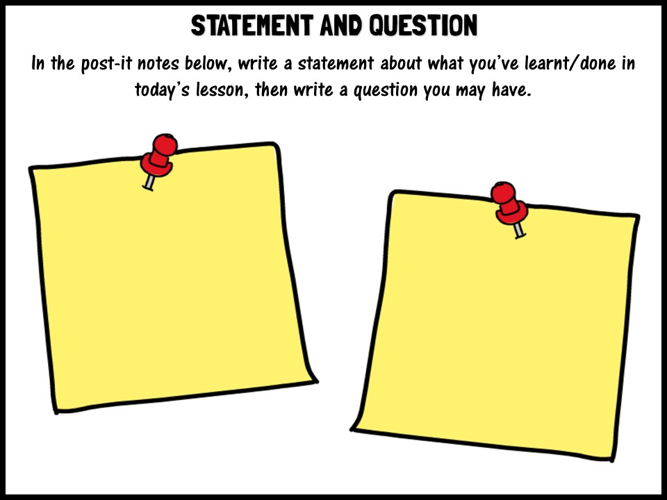 Statement and question