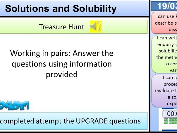 Solutions and Solubility KS3 Activate