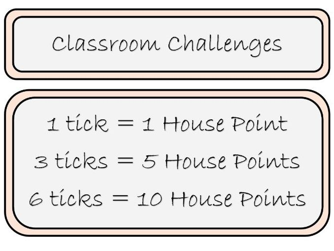 Classroom Challenge Board Display