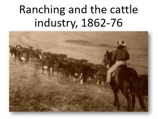 Ranching and the cattle industry, 1862-76