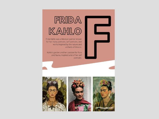 Artist A to Z | F | Frida Kahlo | Flower Crown Design | Flower Crown Portraits