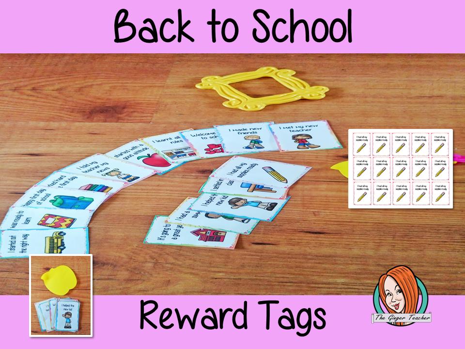 Back to School Reward Tags