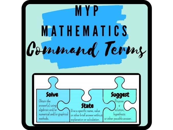 IB MYP Mathematics Command Terms Poster