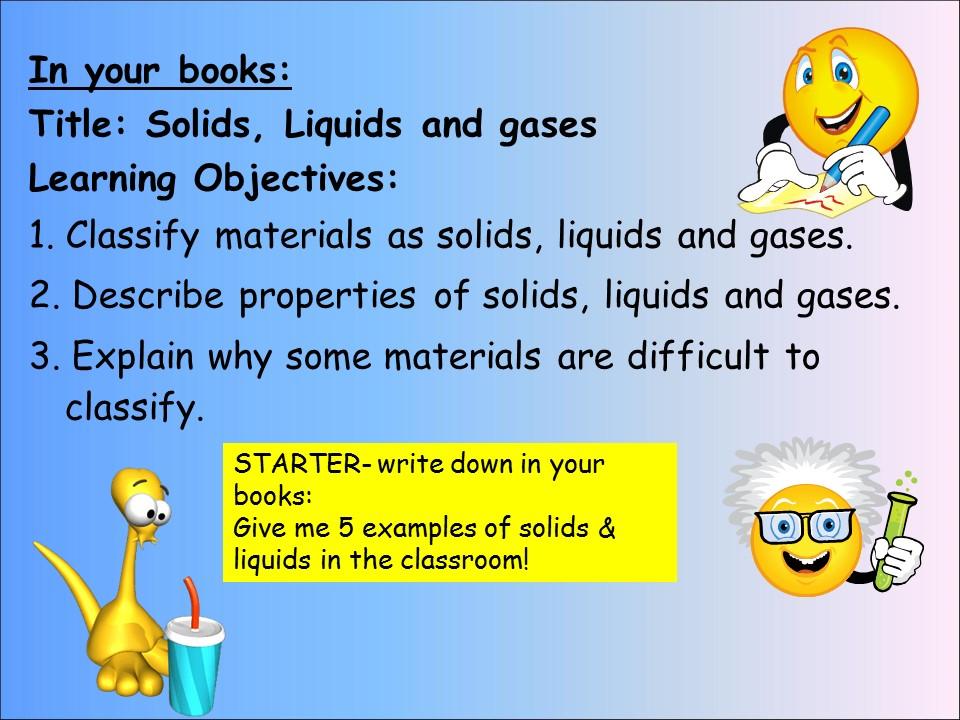 KS3 CHEMISTRY: STATES OF MATTER