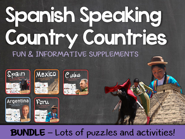 Country studies bundle (Spanish Speaking Countries)