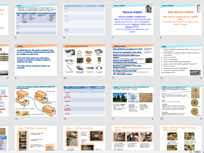 AQA Design Technology Revision for GCSE and A level pack.