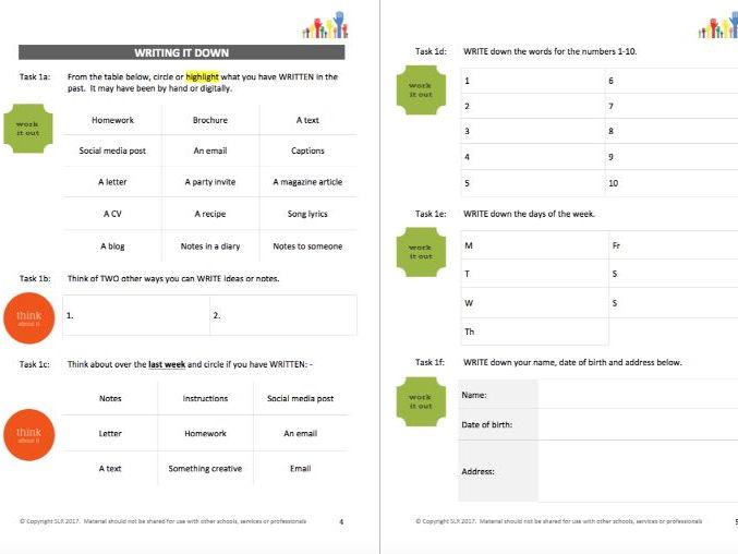 LITERACY (2) - WRITE IT student workbooklet