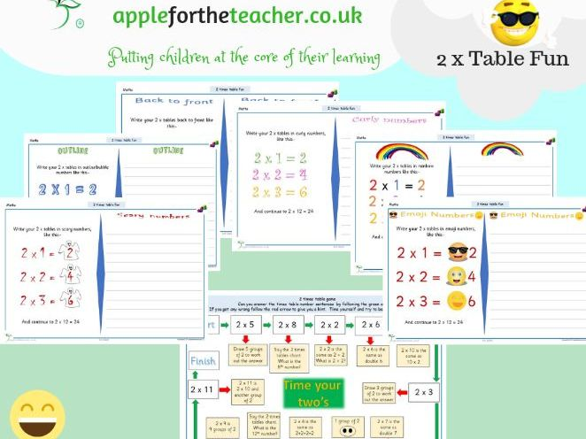2 Times Tables Fun Activities