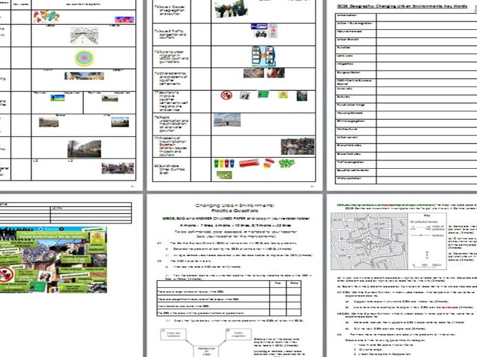 BUMPER Exam Question pack (+ revision extras) - AQA A GCSE Geography