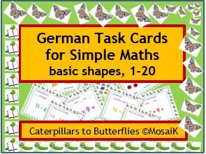 Home Learning German numbers 1-20, 54 task cards