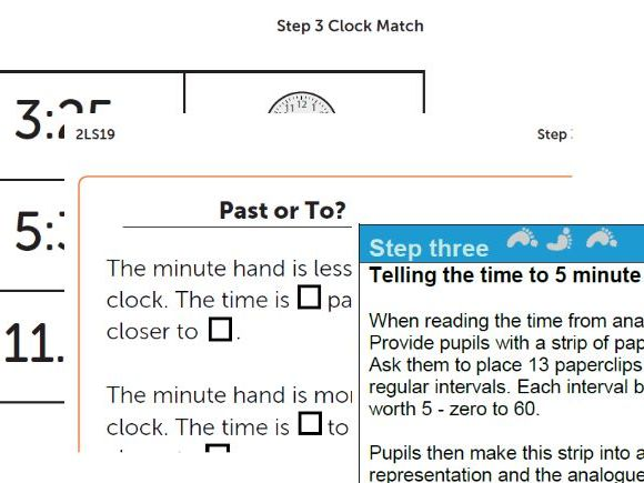 Year 2 Maths plan Telling the time; O'clock, half past, quarter past and to. ESSENTIAL maths