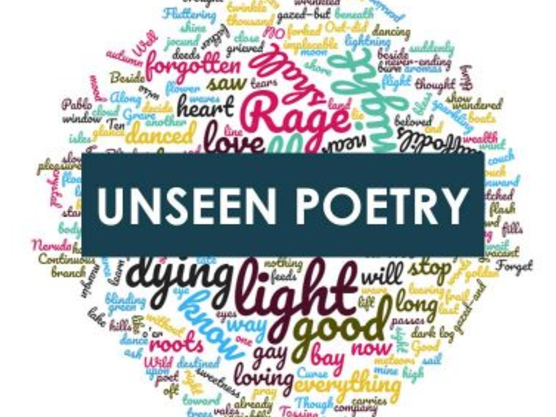 EDUQAS WJEC Unseen Poetry Scheme of Work